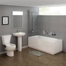 showerbaths mobroi com 1600x700mm crosby straight shower bath suite contemporary