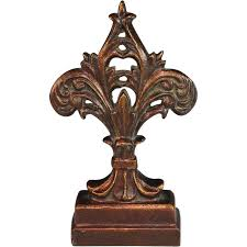 decorative door stopper antique cast iron doorstop door stop fleur de lis 350 00 or best