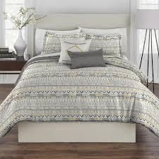 gray gold geo tribal comforter set christmas tree shops andthat