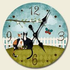 theme clock theme wood wall clock purrfect day 68 180