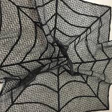 happy halloween cover photo halloween decoration black lace tablecloth spider web round 30inch