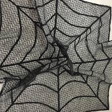 Spider Web Halloween Decoration Halloween Decoration Black Lace Tablecloth Spider Web Round 30inch