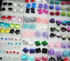 store stud earrings 124pcs mix style resin rhinestones womens fashion stud