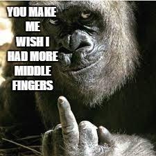Ape Meme - ape middle finger memes imgflip