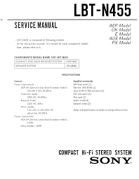 sony lbt n455 service manual immediate download