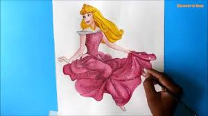 draw princess aurora sleeping beauty