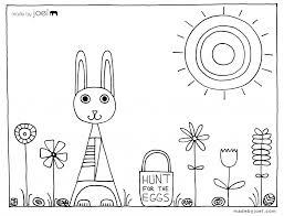 made by joel easter coloring sheet u2013 hunt for the eggs