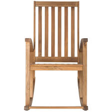 John F Kennedy Rocking Chair Glossy White Wood Outdoor Rocking Chair It 130828w The Home Depot