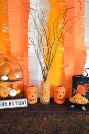 halloween photo backdrop orange crepe paper halloween fringed backdrop from scratch with