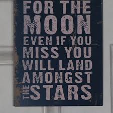 metal wall plaque shoot for the moon melody maison