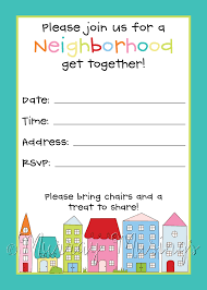 Free Printable Halloween Invitations Kids Neighborhood Block Party Invitation Freeprintable Printables