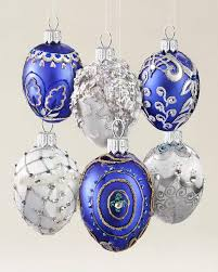 egg blown glass ornament set balsam hill