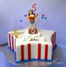 cake fiction wonder woman birthday cake with invisible plane