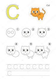 tutorial vector c drawing tutorial game for letter c stock vector anna mikhailova