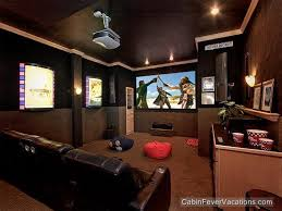 Best Home Theater Room Pigeon ForgeGatlinburg Luxury Cabin - 5 bedroom cabins in pigeon forge tn