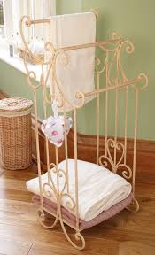shabby chic french vintage style cream free standing towel rail