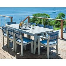 dining table 40x85 pacifica collection marine grade polymer