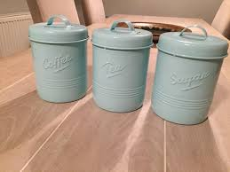 blue kitchen canisters duck egg blue kitchen canisters in ipswich suffolk gumtree