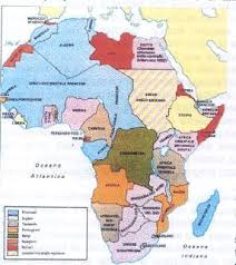africa e asia mappa la spartizione dell africa e dell asia