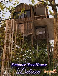 summer tree house deluxe 3d models and 3d software by daz 3d