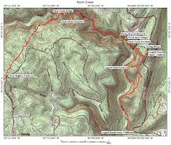 Red River Gorge Map Rock Creek Gorge Section U2013 Cumberland Trails Conference