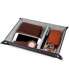 valet tray for storage pu leather jewelry nightstand organizer