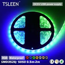 tsleen full color rgb 5v 3528 5050 smd flexible led strip light