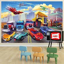 fototapete kinderzimmer junge de poster für kinderzimmer autorennen wandbild dekoration