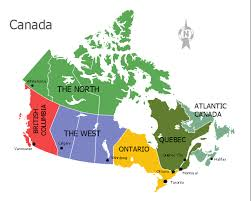 regions of canada map map of canada regions major tourist attractions maps