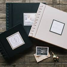 photo albums personalized custom personalized photo album calligraphy bick bookbinding