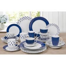 brighton blue spots and stripes 24 dinner set next day