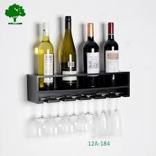 floating black wine rack display wall mount accent room design