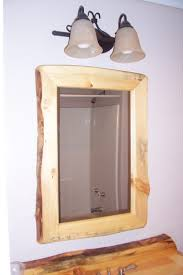 bathroom mirror frame ideas bathroom rustic log wood bathroom mirror with vertical rectangle