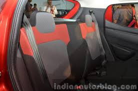 renault kwid boot space renault kwid rear seat india unveiling indian autos blog