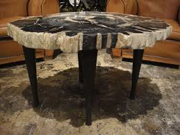 petrified wood end table the most modern petrified wood end table household designs tables