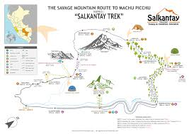 Weather Classic Map Trekking To Machu Picchu Salkantay Llactapata Trek 5 Days