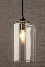Clear Glass Pendant Light Lighting Design Ideas Glass Cylinder Pendant Light Glass Ceiling