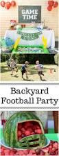 backyard football game birthday party ideas kids birthday