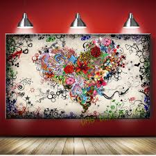 pics photos colorful abstract graffiti wall murals painting and graffiti design abstract wall art heart flowers canvas prints painting pictures decor for living room unframed in painting calligraphy from home garden