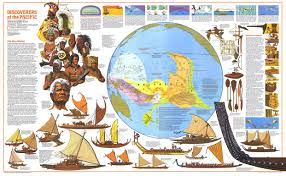 National Geographic Map Discoverers Of The Pacific