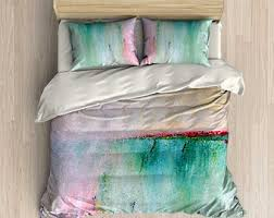 blush pink duvet cover abstract bedding set comforter