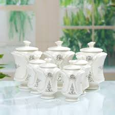 white ceramic canister sets ceramic canister sets for impressing