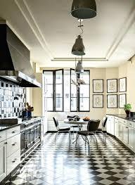 cuisine blanche et noir carrelage cuisine blanc et noir cethosia me