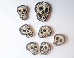 skull ornaments etsy