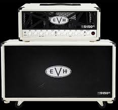 evh 5150 iii 50 watt head and 2x12 speaker cabinet ivory wild