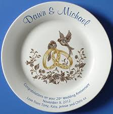 personalized anniversary plates personalized bone china commemorative plate for a 55th wedding