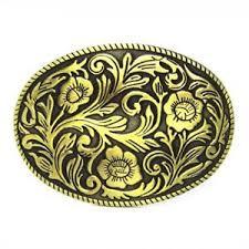floral belt vintage oval ranch flower floral belt buckle brass cowboy