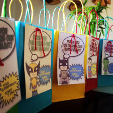 halloween goody bags superhero theme goodie bags diy kiddie stuff pinterest