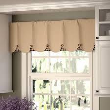 Burlap Looking Curtains August Grove Addie Burlap Scalloped Curtain Valance U0026 Reviews
