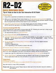 The Old Robots Web Site R2d2 Droid Instruction Manual